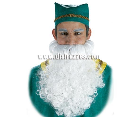 Barba blanca gigante. Sirve para Rey Mago, Papa Noel y también para Duende o Enanito.