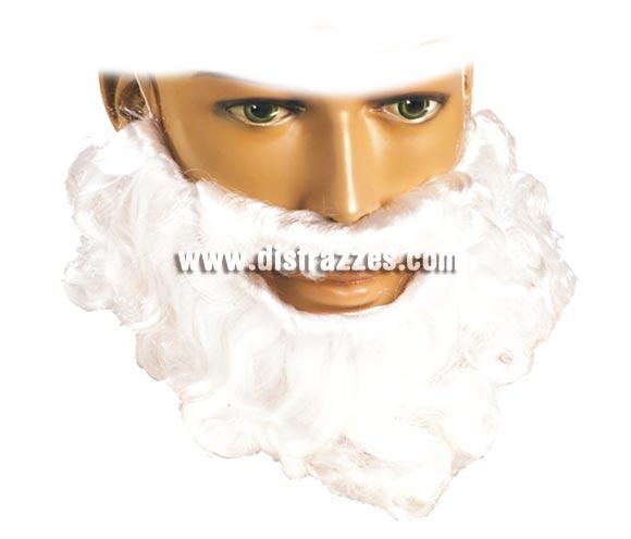 Barba rizo blanca pelo natural. Barba ideal para lo que quieras, sobre todo para el Rey Mago Melchor.