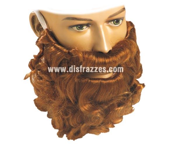 Barba rizo RUBIA pelo natural. Barba ideal para los disfraces de Vikingo y para el Rey Mago Gaspar.