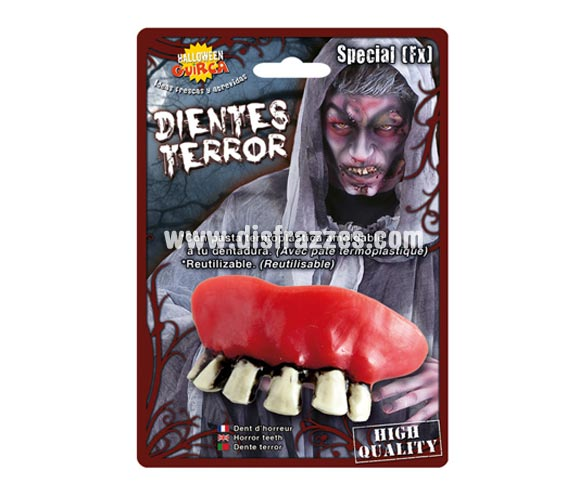 Dientes o dentadura de Bruja para Halloween.