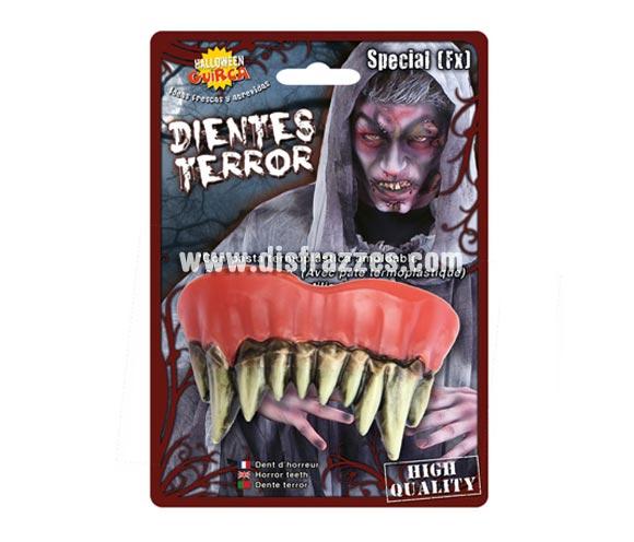 Dientes o dentadura de Monstruo Zombie para Halloween.