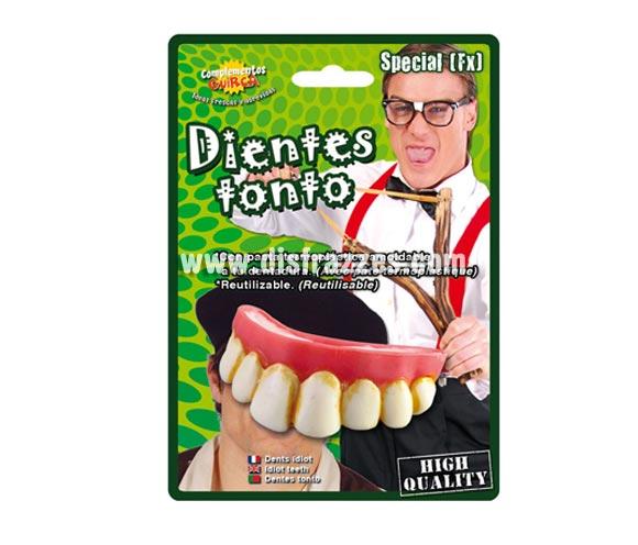 Dientes o dentadura de tonto. ¿Te acuerdas de Jerry Lewis? Qué buen actor y qué cachondo, podríamos usar ésta dentadura para disfrazarnos de él e imitarlo en la película EL PROFESOR CHIFLADO.