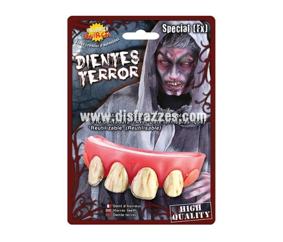 Dientes o dentadura de Jorobado para Halloween.