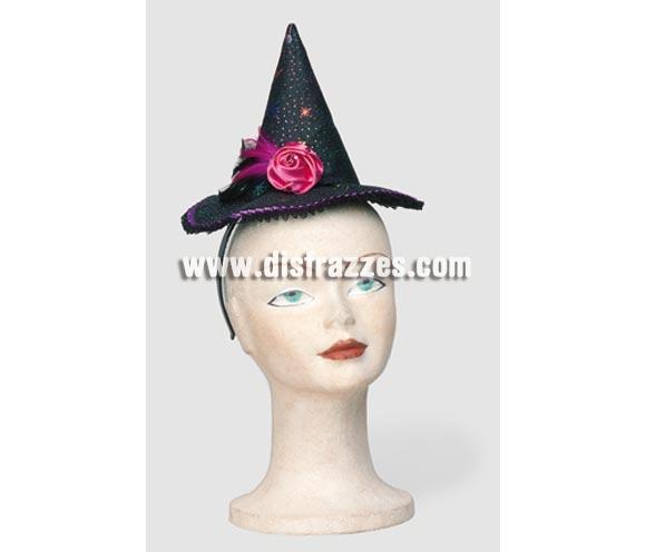 Diadema sombrero de Bruja fantasía para Halloween. Éste artículo también nos lo han pedido para Despedidas de Soltera.