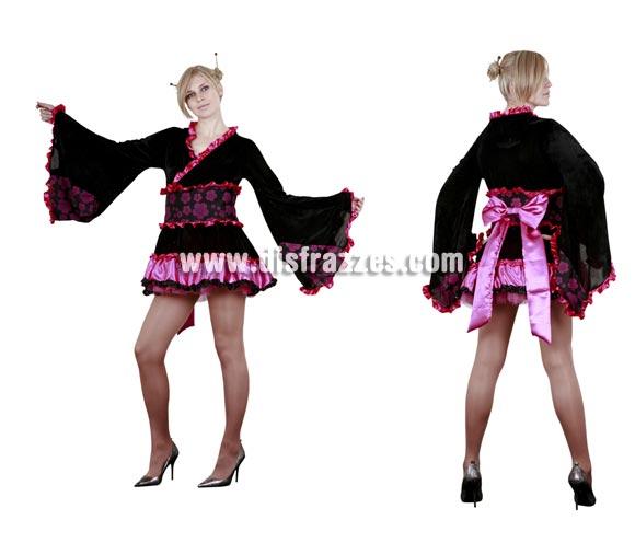 Disfraz de Japonesa Sexy adulta. Talla standar M-L = 38/42. Incluye vestido y cinturón con lazo. Disfraz de Geisha Sexy para mujer.