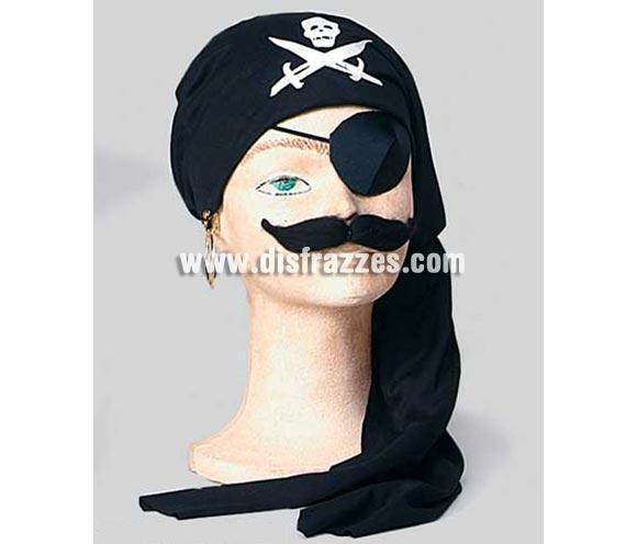 Set Pirata. Incluye parche, aro, bigote y pañuelo para la cabeza.