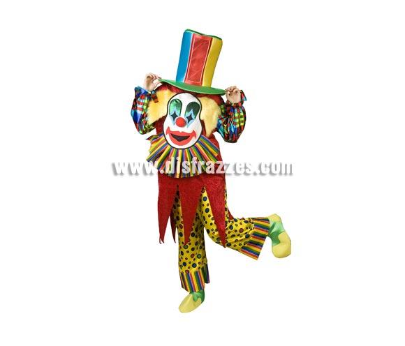 Disfraz de Payaso Sonrisa Especial para adultos. Talla de hombre (50) y de mujer (44). Incluye disfraz completo como en la imagen. Con éste disfraz no te ven la cara ya que ves a través de una rejilla que hay en el sombrero y es de un diseño muy novedoso y original. ¡¡Llamarás la atención, seguro!!