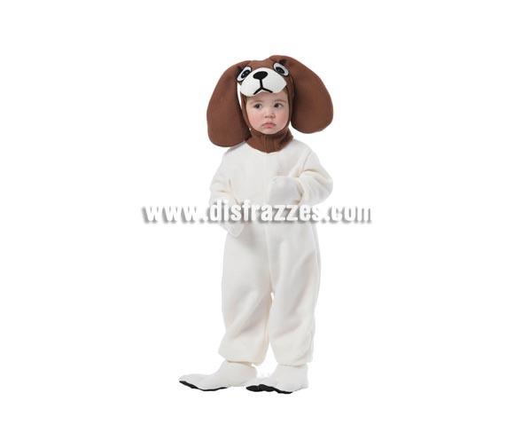 Disfraz barato de Perro Pachón para niños de 1 a 2 años. Incluye traje, capucha y cubrepies.