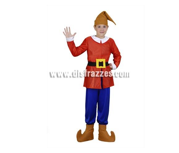 Disfraz barato de Enanito rojo 10-12 años para niños
