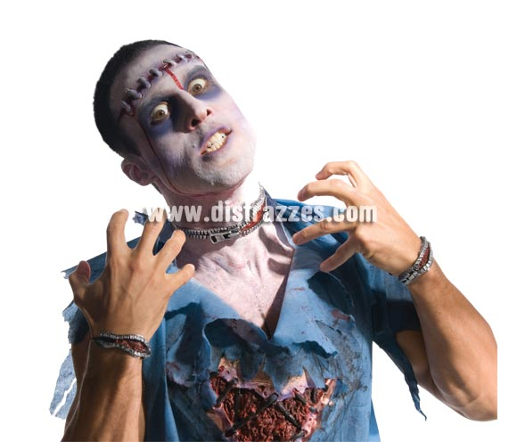 Set Cremallera sangrante Zombies.