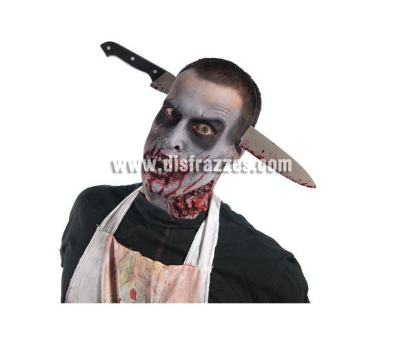 Diadema con cuchillo Zombies para Halloween.