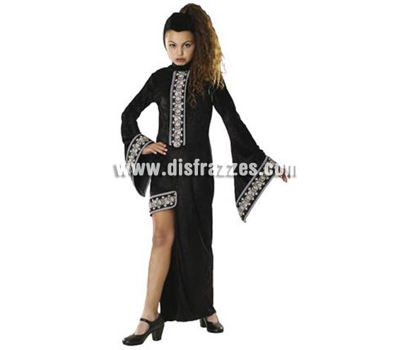Disfraz Princesa de medianoche niñas de 3-4 años. Incluye vestido. Disfraz de Vampira.