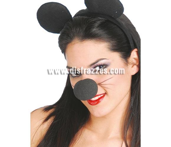Nariz negra de espuma. Para disfrazarse de Ratón o de Gato, etc. etc. También de Mickey o de Minnie.