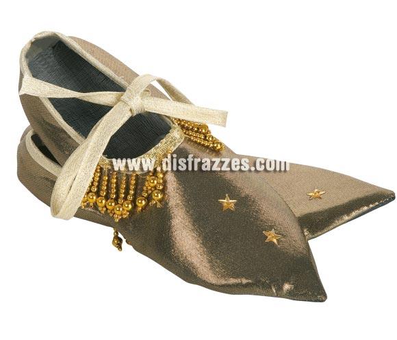 Babuchas lujo adulto. Medida 29 cm. Perfectas para los disfraces de Pajes Reales de los Reyes Magos y para los disfraces de Árabes e Hindús.