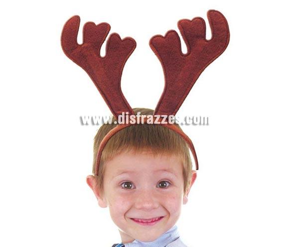 Diadema cuernos de Ciervo o Reno para Navidad.