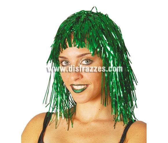 Peluca verde brillante de lumalina. Ideal para Nochevieja.