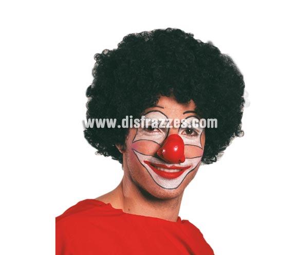 Peluca rizos negra de Payaso. También puede valer para el disfraz de Michael Jackson.