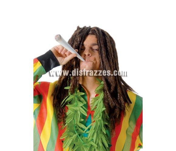 Peluca Rastas de color castaña. Peluca de Bob Marley, un icono de Jamaica.