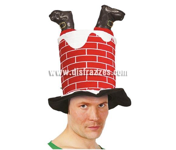 Sombrero o gorro Chimenea para Navidad. Seguro qua das la nota y probocas unas risas en Nochebuena, que es de lo que se trata.