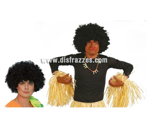 Peluca Rizos gigante negra. Peluca Afro que sirve para Zulús, Payasos, Cavernícolas o Trogloditas, etc. etc.