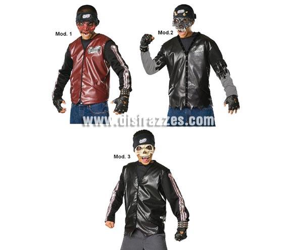 Máscaras de Dead City Choppers Halloween infantil. Tres modelos surtidos, precio por unidad, se venden por separado. Máscaras de Choppers muertos de la Ciudad.