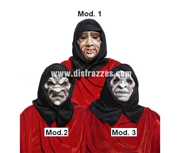 Máscaras Encapuchados Malditos Halloween. Tres modelos surtidos, precio por unidad, se venden por separado.