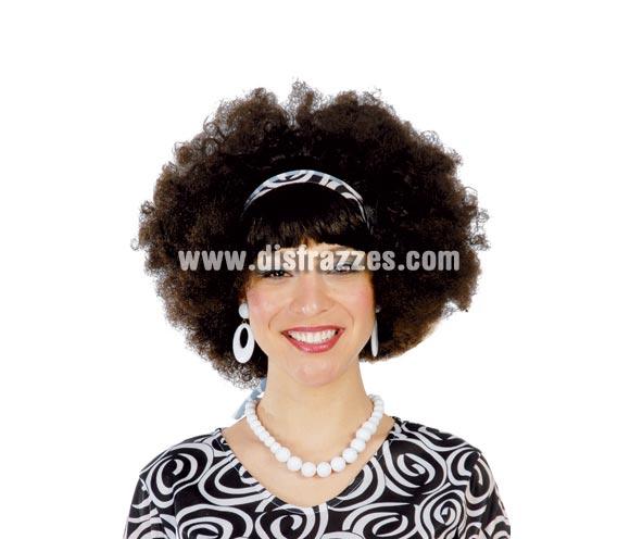Peluca Isabel - Peluca Hippie negra.