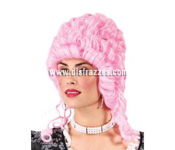 Peluca Condesa rosa - Peluca de Época rosa.