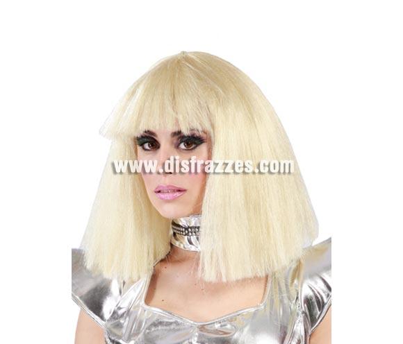 Peluca Lady cantante de moda. Con ésta peluca podrás imitar a la extrovertida Lady Gaga.