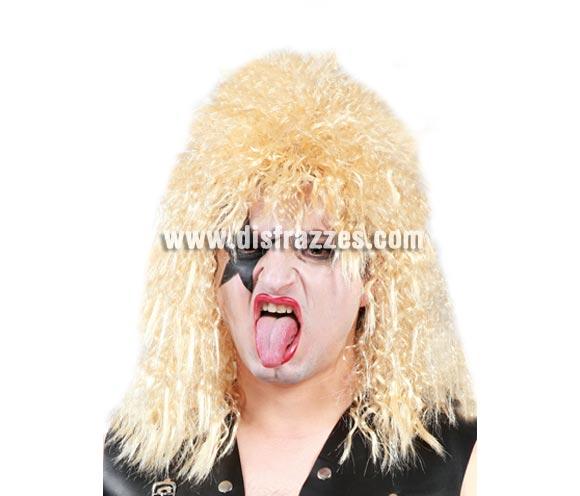 Peluca rockero rubia. ¿Te acuerdas del grupo The Kiss? Pues con ésta peluca y un buen maquillaje los imitarás a la perfección.