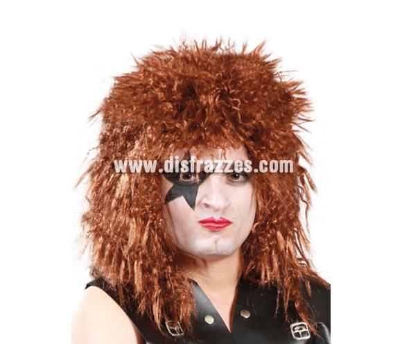 Peluca rockero castaña. ¿Te acuerdas del grupo The Kiss? Pues con ésta peluca y un buen maquillaje los imitarás a la perfección.