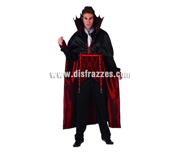 Disfraz de Vampiro para hombre. Talla 2 ó talla M-L 52/54. Incluye traje completo.