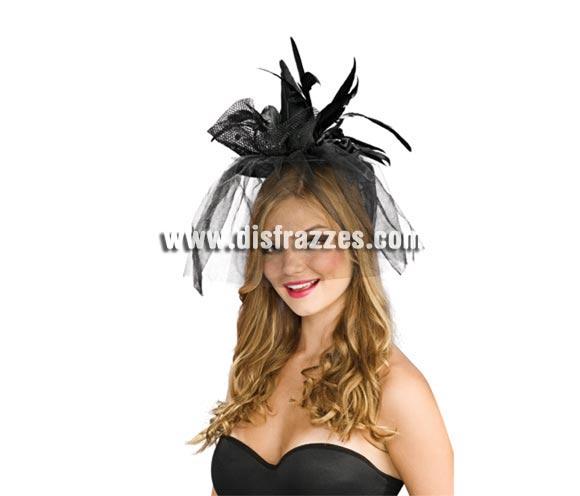 Mini sombrero de Bruja negro para Halloween. Precioso y novedoso sombrero de Bruja con el que darás la nota seguro en tu Fiesta de Halloween.