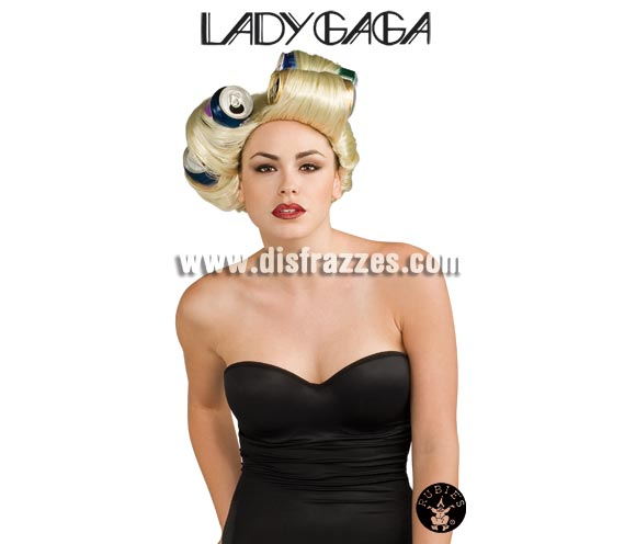 Peluca Lady Gaga soda para Carnaval. Peluca auténtica con  licencia ¡No aceptes imitaciones! Latas NO incluidas.