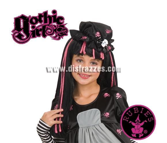Peluca Black Dolly de GOTHIC GIRLS. Ésta peluca es muy original y más ahora que tanto están de moda las Monster High.