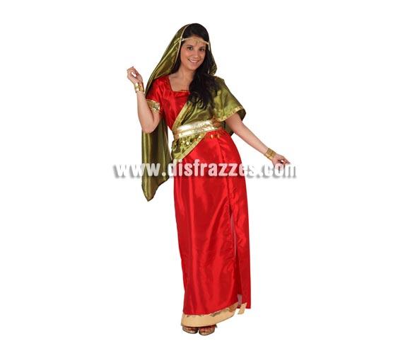 Disfraz de Hindú para mujer. Talla 2 ó talla Standar M-L 38/42. Incluye disfraz completo.