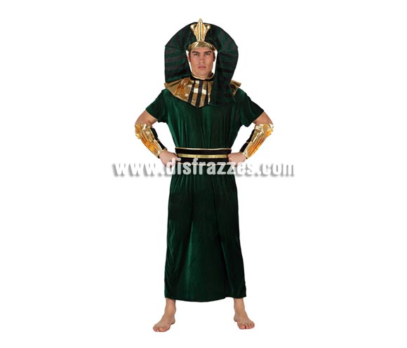 Disfraz barato de Egipcio verde para hombre talla M-L