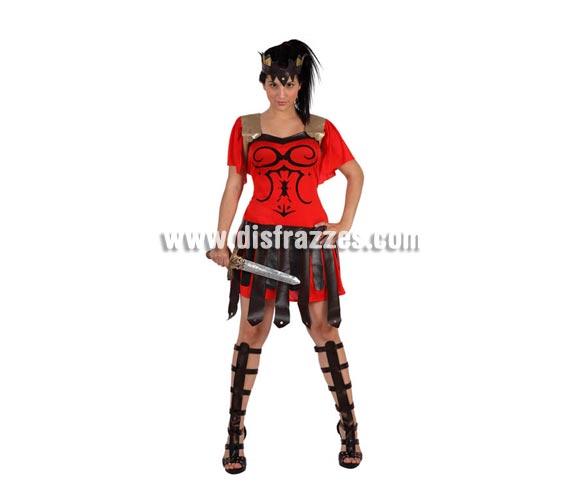 Disfraz de Gladiadora o Centurión para mujer. Talla 2 ó talla Standar M-L 38/42. Incluye disfraz completo.Espada NO incluida, podrás encontrar en nuestra sección de Complementos.