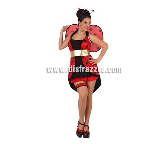 Disfraz de Mariquita sexy para mujer. Talla 2 ó talla Standar M-L 38/42. Incluye disfraz completo. Liga No incluida, podrás encontrar en nuestra sección de Complementos.