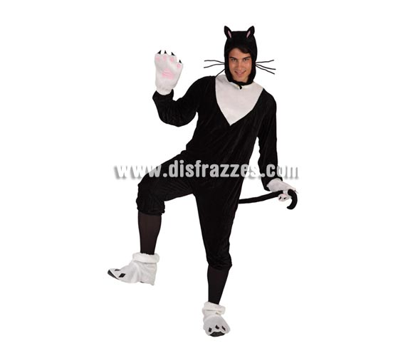 Disfraz de Gato para hombre. Talla 2 ó talla Standar M-L 52/54. Incluye disfraz completo.