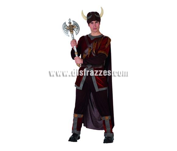 Disfraz de Guerrero Vikingo para hombre. Talla 2 ó talla Standar M-L 52/54. Incluye traje completo. Hacha NO incluida, podrás encontrar en nuestra sección de Complementos.