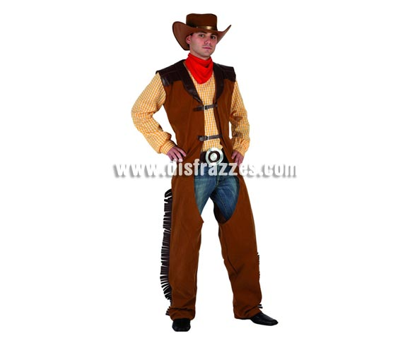 Disfraz de Pistolero o Vaquero para hombre. Talla 3 ó talla XL 54/58. incluye disfraz completo. Pantalón vaquero NO incluido.