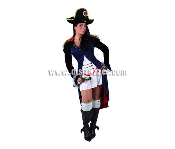 Disfraz de Napoleona o de Soldada Francesa sexy para mujer. Talla 2 ó talla Standar M-L = 38/42. Incluye vestido, chaqueta y gorro. Complementos NO incluidos.