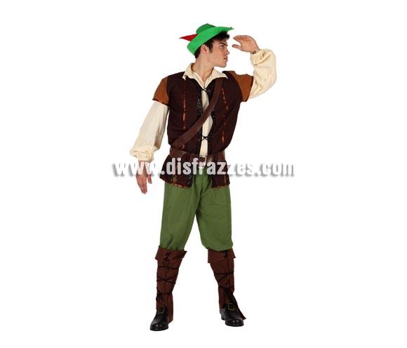 Disfraz de Chico de los Bosques para hombre. Talla 2 o talla standar M-L 52/54. Incluye disfraz completo. Disfraz de Robin Hood para hombre.