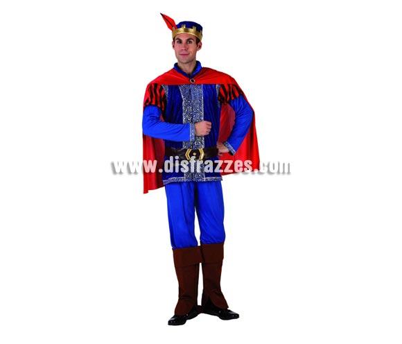 Disfraz de Príncipe de cuento Azul para hombre. Talla 2 o talla Standar M-L 52/54. Incluye disfraz completo. Disfraz de Príncipe Medieval.