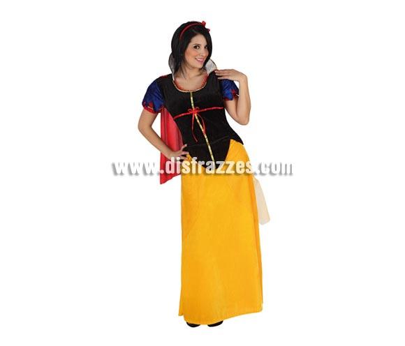 Disfraz de Princesa de las Nieves para mujer. Talla 3 ó talla XL 44/48. Incluye disfraz completo. Disfraz de Blancanieves para mujer.