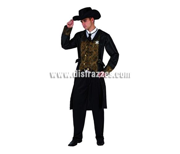 Disfraz de Sheriff del Oeste para hombre. Talla 2 ó talla Standar M-L 52/54. Incluye traje completo.