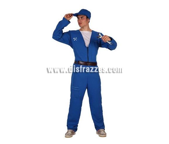 Disfraz de Mecánico azul para hombre. Talla Standar M-L = 52/54. Incluye mono y cinturón. Complementos NO incluidos.