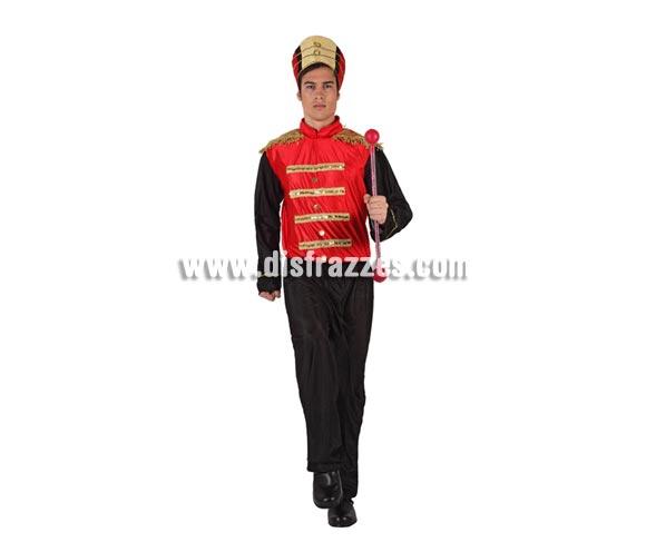 Disfraz barato de Majorette o de Músico para hombre. Talla 2 ó talla standar M-L 52/54. Incluye pantalón, camisa y gorro.