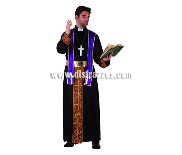 Disfraz de Obispo Diocesis para hombre. Talla 2 ó talla standar M-L 52/54. Incluye traje completo. Biblia NO incluida.